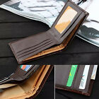 New Men Business Leather Wallet Card Holder Clutch Bifold Slim Purse Pocket