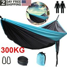 """Camping Hammock Outdoor Garden Portable Double Hanging Bed Swing Chair 118""""x78"""""""