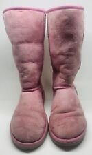 Womens Ugg Australia Classic Tall 5815 Auburn Boots Size 6 Uggs Pink Rose Color