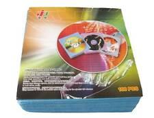100x CD DVD DISC Clear Cover Storage Case Blue Bag Plastic Sleeve Holder Packs