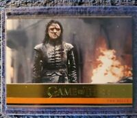 "Game of Thrones Season 8 Gold Parallel Trading Card ARYA, ""The Bells"""