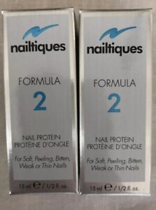 NAILTIQUES FORMULA 2 PROTEIN 15ml EACH (2 LARGE BOTTLES) FREE SHIPPING