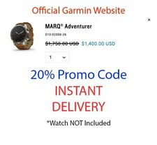 Garmin MARQ Adventurer - 20% Discount Code (NO WATCH, SEE DESCRIPTION)
