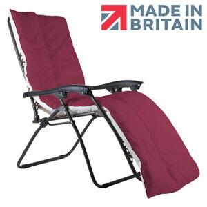 Sun Lounger Topper Cushion / Camping Mat Multipurpose UK MADE - Wine
