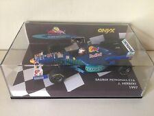 Onyx F1 1/43 Sauber Petronas C16 Johnny Herbert 1997 Boîtier Box Minichamps