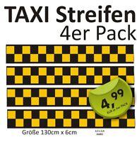 4 x Aufkleber 1,30m  Vespa Roller Aufkleber Taxistreifen kariert Schach #gelb