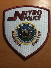 PATCH POLICE NITRO KANAWHA MANTUP   WEST VIRGINIA  W.VA.  STATE
