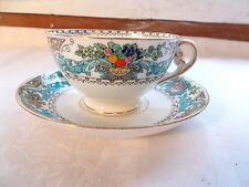 Almora Adderley SL Bone China Tea Coffee Cup and Saucer England Fruit Floral