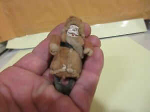 ANTIQUE GERMAN VICTORIAN SPUN COTTON SANTA OLD CHRISTMAS ORNAMENT Clay Face