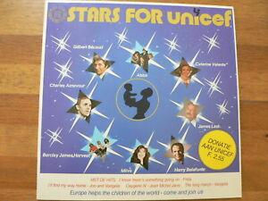 LP RECORD VINYL STARS FOR UNICEF ABBA,AZNAVOUR,FRIDA,VANGALIS,JARRE,BECAUD,MILVA