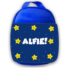 Personalised Kids Lunch Bag Any Name Star Design Childrens Boys School Snack 1