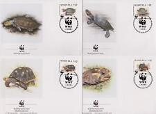 Venezuela 1992 WWF - Tortoise & Turtle - 4 First Day Covers - (75)