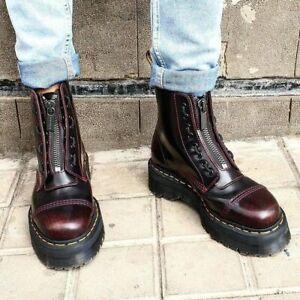 Dr. Martens Unisex 8-Eye Sinclair Zip Boots Cherry Red Arcadia Platform Boots