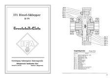 Brockenhexe RS 02 IFA Nordhausen Ersatzteilliste RS02