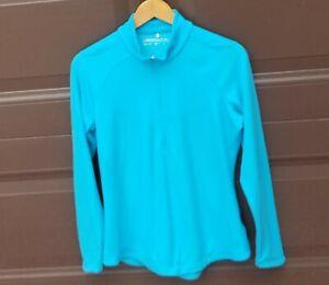 Nike Golf Size Medium (M) Women's Blue Long Sleeve Dri-Fit Athletic Top