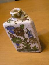 """Antique Iznik Style Persian Turkish Ceramic Pottery Hand Painted Glazed Vase 6"""""""
