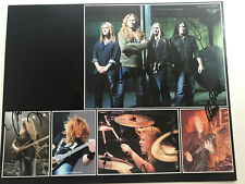 Megadeth * Dave Mustaine * Full Band Autographed 8�x10� Photo * Metallica Big 4