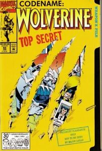 Wolverine #50 NM 1992 Marvel comic Die cut cover  Codename: Top Secret