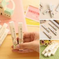 2Pcs/set Cute Korean Office School Stationery Long Strip Rubber Pencil Eraser