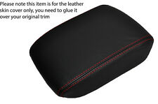 RED STITCHING LEATHER ARMREST LID SKIN COVER FITS SAAB 9-5 95 2006-2009