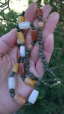 Natural Burmese Jade Beaded  Necklace