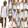 White Dress Womens Evening Party Cocktail Summer Mini Playsuit Jumpsuit Sundress