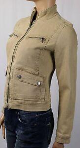 Ralph Lauren Jeans Co Tan Denim Jacket Snapped Zippered Pockets NWT $160