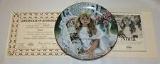 "Edwin Knowles 1989 ""Anna"" ltd. ed. plate by Corinne Layton #7563A w/ Coa & box"