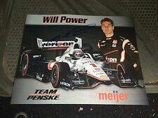 Will Power Signed Meijer Indy 500 Car Hero Card 2015 Rare Autographed