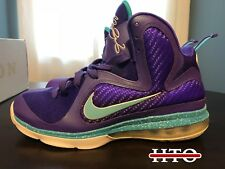 Nike LeBron 9 Summit Lake Hornets 469764 500 Men's Size 8 2012 Release