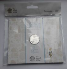 UK Royal Mint 2018 Beatrix Potter Peter Rabbit 50p Fifty Pence Coin Pack BU, New