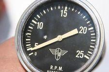 Stewart Warner Vintage Electrical Wings Tachometer 2500 RPMs - Model 106 S
