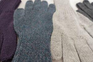 Alpaca Gloves - 'Plain Knit' 100% Premium Luxury Super Warm Gloves, Womens, Mens