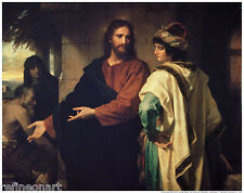 Heinrich Hofmann Rich Young Ruler And Jesus Handmade Oil Painting repro