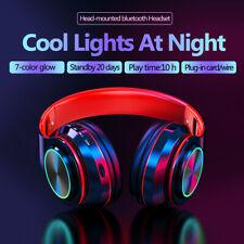 ❤ Wireless bluetooth Headset Headphones Foldable Stereo Earphones LED Super