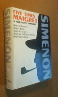 Five Times Maigret: A Five Novel Omnibus by Georges Simenon 1st US Edition