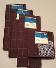 Kitchen Accessory Set Microfiber Hand Towel Dish Cloth Chocolate Brown NEW