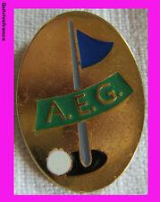 BG3111 - INSIGNE AEG ASSOCIATION EUROPEENNE DE GOLF -  DRAPEAU BLEU