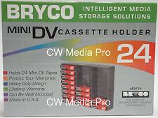 Bryco Mini Dv video tape Rack Storage 24 Panasonic Hd Hdv miniDv pro tapes