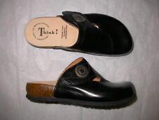 Think! Capra Giglio Veg Black Clogs 36 5