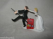 Wedding Party Reception ~Gone Fishing~  Bridal Cake Topper Pole Fisherman