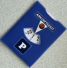 Parkscheibe mit Logo Alfa Romeo Parkuhr Leder Kurzparkzone Parkzone Blau