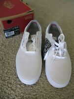 NEW Mens VANS Skate Board Tennis Shoe Whisper White Suede Canvas Size 12