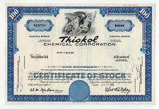 Thiokol Chemical Corp. Stock