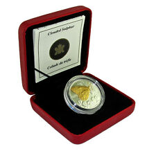 CANADA 50 cents 2004 Gold Plated Silver 'Butterfly - Clouded Sulphur'