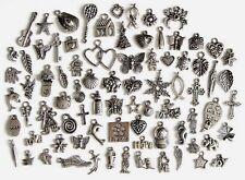 80 Breloques _ LOT MIX DIVERS arg. de 11 à 29 mm _ Perles charms création bijoux
