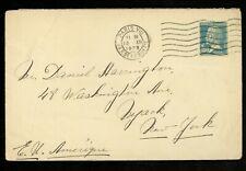 Postal History France #196 cover TB Seal Label 1929 Paris to Nyack NY