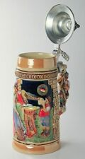 Limited Edition Collectable German Lidded Beer Stein. Hand-painted Man & Child