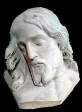 Antigua escayola del escultor Navarrete, de la cara de Cristo. Firmada.