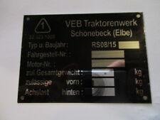 Panneau type Tracteur Fortschritt RS 08/15 RS08/15 VEB DDR Schoenebeck S25